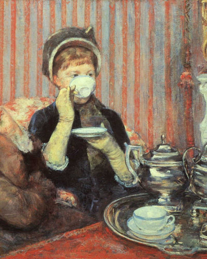Victorian Ladies drinking tea