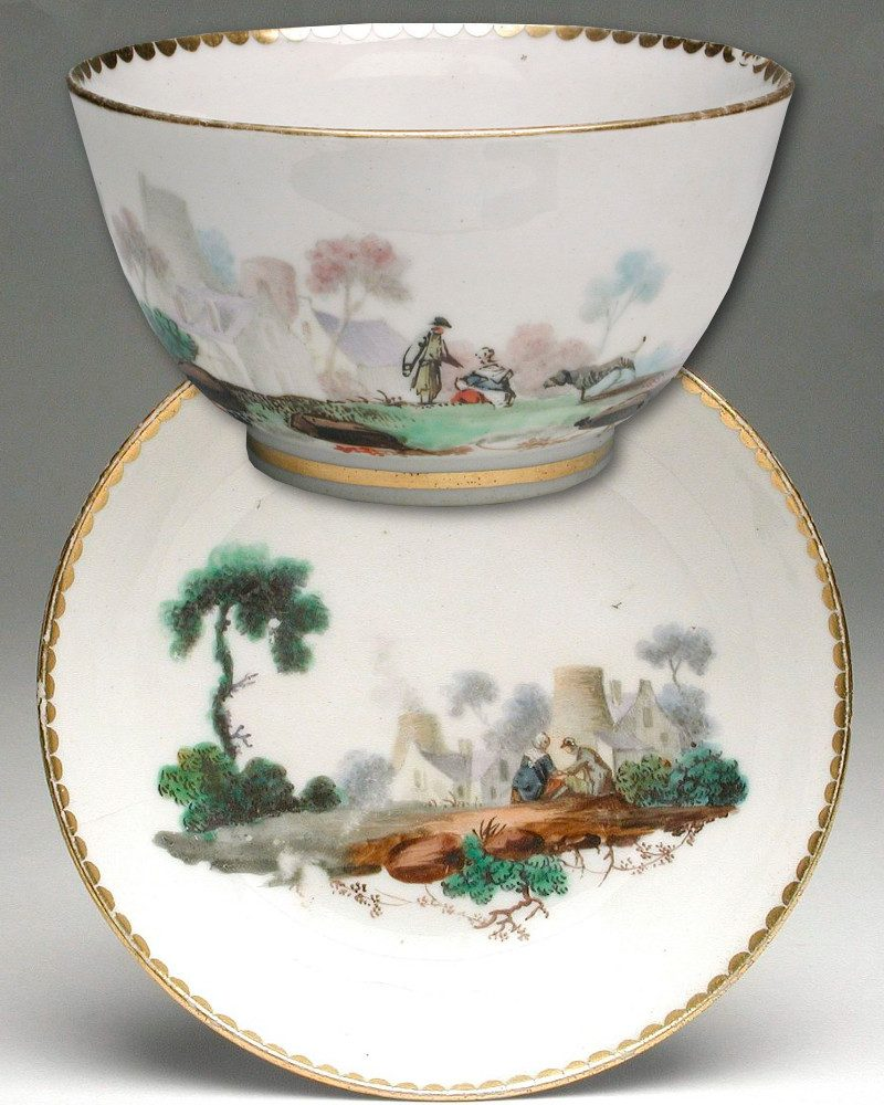 1785. Tea Bowl and Saucer. LACMA